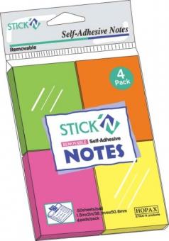 Notes autoadeziv 38 x  51 mm, 4 x 50 file/set, Stick