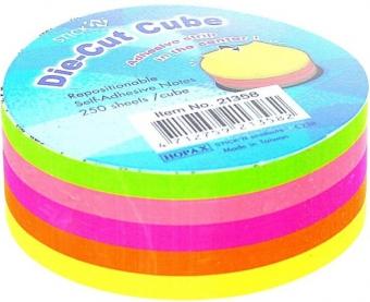 Notes autoadeziv Die-Cut - cerc, 67 x 67 mm, 5 x 50 file/set, Stick