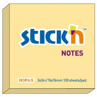 Notes autoadeziv 76 x  76 mm, 100 file, Stick