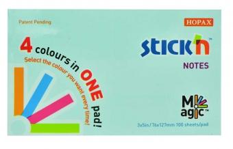 Magic notes autoadeziv 76 x 127 mm, 100 file, Stick