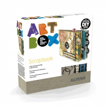 Cutie cu articole creative ALPINO ArtBox Scrapbook Travel