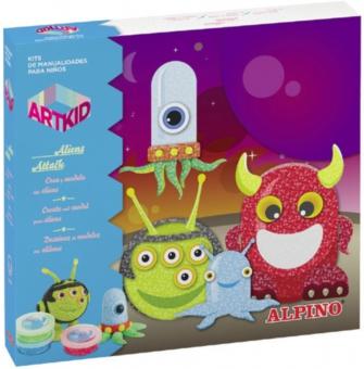 Cutie cu articole creative pentru copii, ALPINO ArtKid Aliens Attack