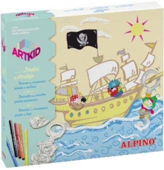 Cutie cu articole creative pentru copii, ALPINO ArtKid Glitter Princess