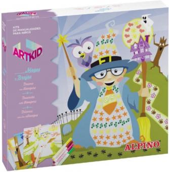 Cutie cu articole creative pentru copii, ALPINO ArtKid Magos y Brujas