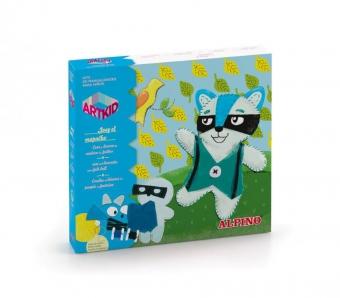 Cutie cu articole creative pentru copii, ALPINO ArtKid Joey the Raccon