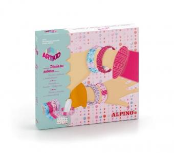 Cutie cu articole creative pentru copii, ALPINO ArtKid Design your bangles