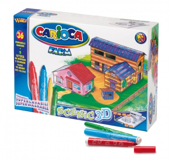 Set articole creative, CARIOCA Scenic 3D - Farm