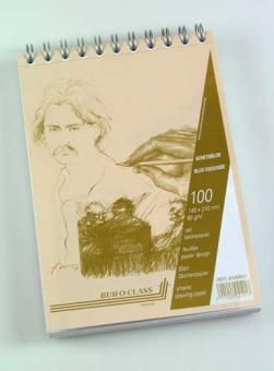 Bloc desen cu spirala, A5, 100 file - 90g/mp, pentru schite creion, AURORA Esquisse