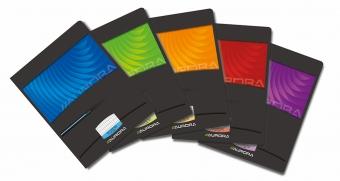 Caiet A5, 36 file - 90g/mp, liniat stanga, coperta carton lucios, AURORA Mano - dictando