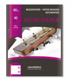 Caiet A5, 20 file - 80g/mp, AURORA - muzica