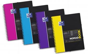 Caiet cu spirala A4+, OXFORD Student Nomadbook, 80 file-90g/mp, 4 perf., coperta PP - mate