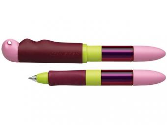 Roller cu cartus SCHNEIDER Base Senso, senzor luminos, corp roz/lime - scriere albastra