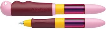 Roller cu cartus SCHNEIDER Base Senso, senzor luminos, corp roz/orange - scriere albastra