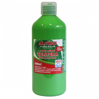Tempera lavabila, 500ml, Alpino - verde deschis
