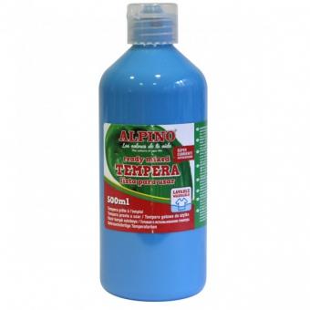 Tempera lavabila, 500ml, Alpino - bleu