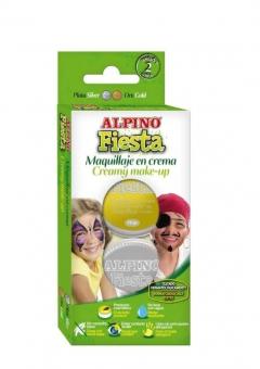 Crema machiaj, 2 culori/cutie, ALPINO Mega Fiesta - argintiu/auriu