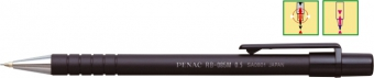 Creion mecanic PENAC RB-085M, rubber grip, 0.5mm, con si varf metalic - corp negru