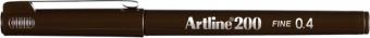 Liner ARTLINE 200, varf fetru 0.4mm - maro inchis