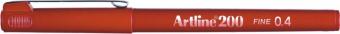 Liner ARTLINE 200, varf fetru 0.4mm - rosu inchis