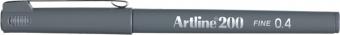 Liner ARTLINE 200, varf fetru 0.4mm - gri