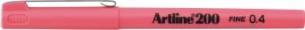 Liner ARTLINE 200, varf fetru 0.4mm - roz