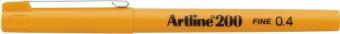 Liner ARTLINE 200, varf fetru 0.4mm - galben