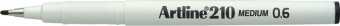 Liner ARTLINE 210, varf fetru 0.6mm - negru