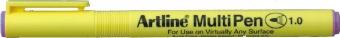 Marker universal ARTLINE Multi Pen, varf rotund 1.0mm - violet pastel
