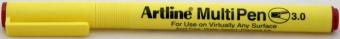 Marker universal ARTLINE Multi Pen, varf tesit 3.0mm - rosu