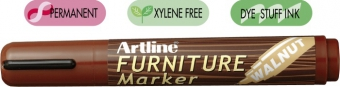 Marker ARTLINE 95, pentru mobilier din lemn (retusuri), corp plastic, varf tesit 2.0-5.0mm - nuc
