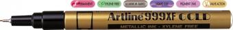 Marker cu vopsea ARTLINE 999XF, corp metalic, varf rotund 0.8mm - auriu