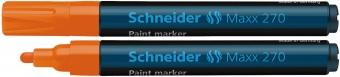 Marker cu vopsea SCHNEIDER Maxx 270, varf rotund 1-3mm - orange