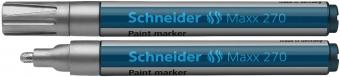Marker cu vopsea SCHNEIDER Maxx 270, varf rotund 1-3mm - argintiu