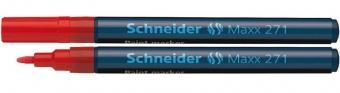 Marker cu vopsea SCHNEIDER Maxx 271, varf rotund 1-2mm - rosu