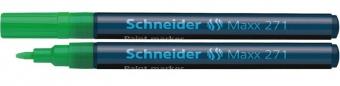 Marker cu vopsea SCHNEIDER Maxx 271, varf rotund 1-2mm - verde