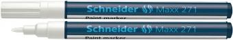 Marker cu vopsea SCHNEIDER Maxx 271, varf rotund 1-2mm - alb