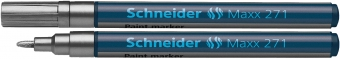 Marker cu vopsea SCHNEIDER Maxx 271, varf rotund 1-2mm - argintiu