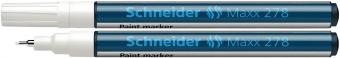 Marker cu vopsea SCHNEIDER Maxx 278, varf rotund 0.8mm - alb