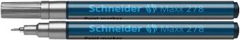 Marker cu vopsea SCHNEIDER Maxx 278, varf rotund 0.8mm - argintiu