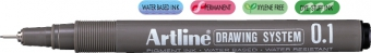 Marker pentru desen tehnic ARTLINE, varf fetru 0.1mm - negru