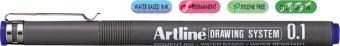 Marker pentru desen tehnic ARTLINE, varf fetru 0.1mm - albastru