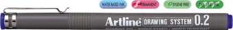 Marker pentru desen tehnic ARTLINE, varf fetru 0.2mm - albastru