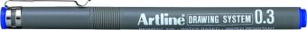 Marker pentru desen tehnic ARTLINE, varf fetru 0.3mm - albastru
