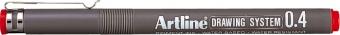 Marker pentru desen tehnic ARTLINE, varf fetru 0.4mm - rosu