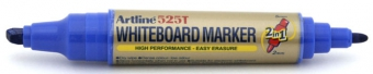Marker pentru tabla de scris ARTLINE 525T, doua capete - varf rotund 2.0mm/tesit 5.0mm - albastru