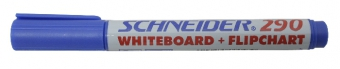 Marker SCHNEIDER Maxx 290, pentru tabla de scris+flipchart, varf rotund 2-3mm - albastru