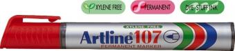 Permanent marker ARTLINE 107, corp plastic, varf rotund 1.5mm - rosu