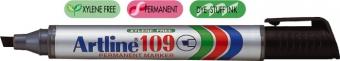 Permanent marker ARTLINE 109, corp plastic, varf tesit 2.0-5.0mm - negru