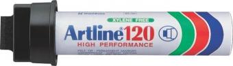 Permanent marker ARTLINE 120, corp metalic, varf tesit 20.0mm - negru