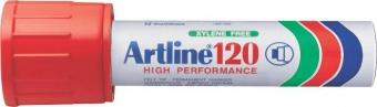 Permanent marker ARTLINE 120, corp metalic, varf tesit 20.0mm - rosu
